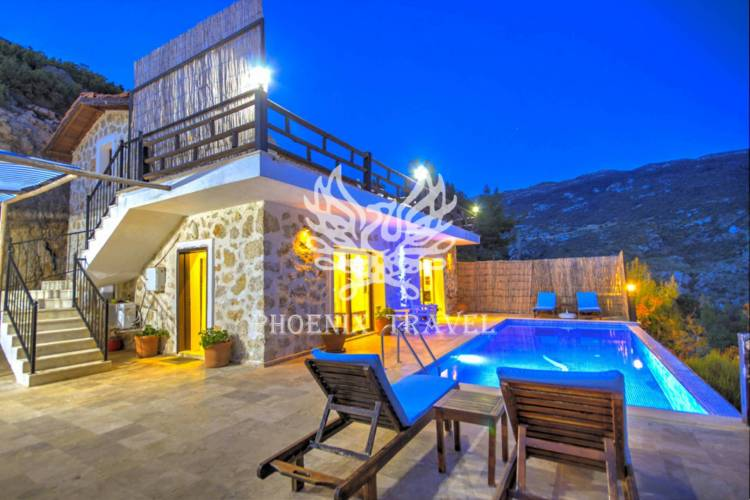 STONE BUİLT VILLA WITH THE BEST VIEW OF KALKAN